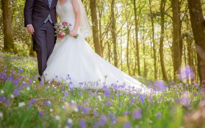 Catrin + Tudur's – Bluebells + Motorbike wedding (well, why the hell not?)